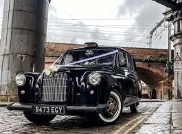 Black Taxi for wedding hire in Manchester